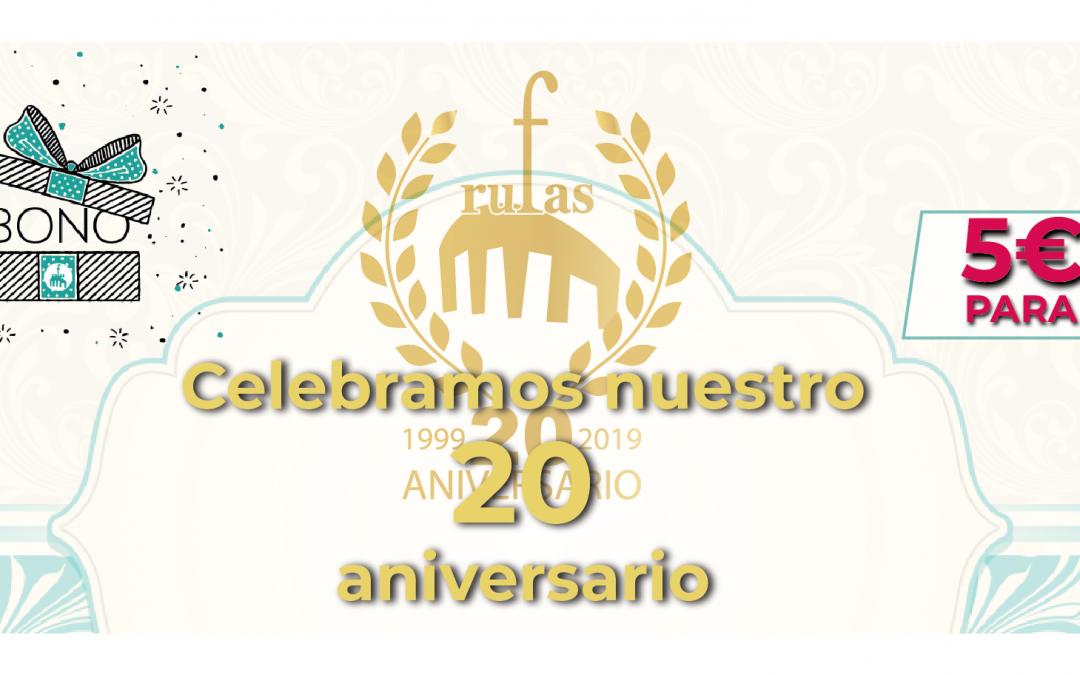 Celebramos nuestro 20 aniversario… 5€ para tí