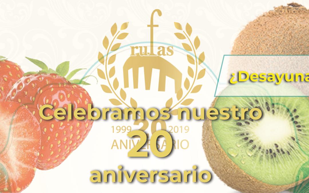 Celebramos nuestro 20 aniversario… ¿Desayunamos?